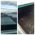 Filipino AB cleaning huge cargo hold Arklow Rally